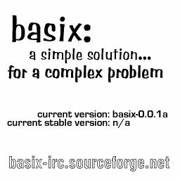 basix: current version: basix-0.0.1a